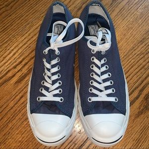 Converse Jack Purcell Navy Shoes Sneakers size 8.5
